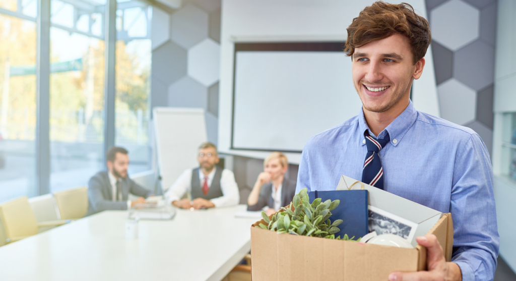 Happy Young Man Starting Career in Business