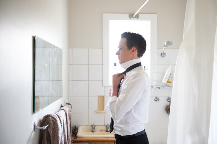 Young Man getting Ready for a Special Day